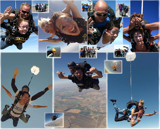 The Best Experience I've Ever Had - Tandem Skydiving Collage